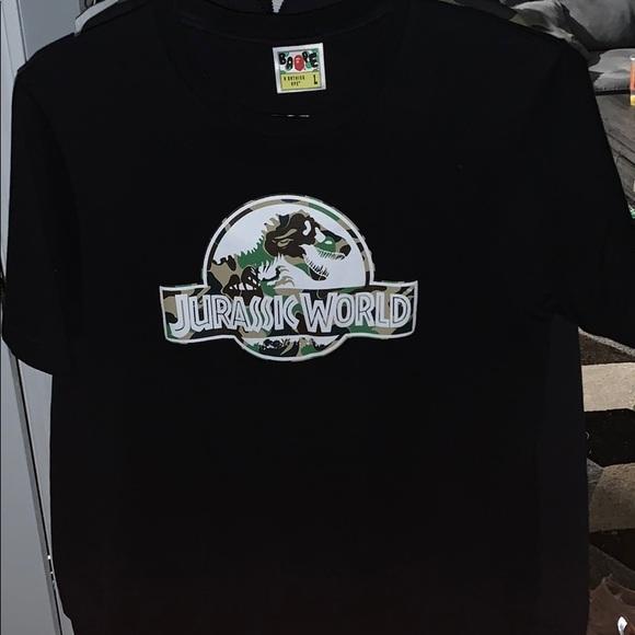 94d31930 Bape Shirts | X Jurassic World Tee Sz L Fits Ml | Poshmark